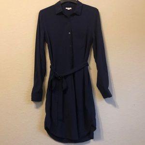 Gap navy medium shirt dress with belted waist